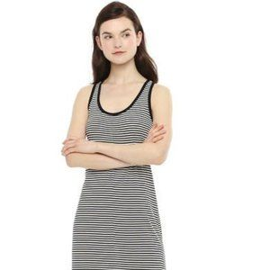 B&W Stripe Racerback Midi Dress